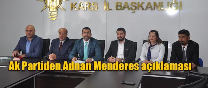 Ak Partiden Adnan Menderes Açıklaması