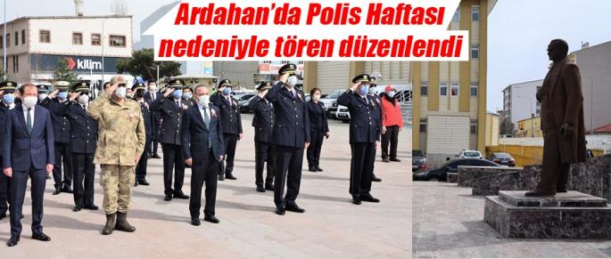 Ardahan'da Polis Haftası Nedeniyle Tören Düzenlendi