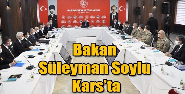 Bakan Süleyman Soylu Kars'ta