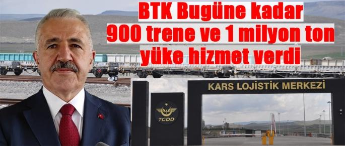 BTK 900 trene ve 1 milyon ton yüke hizmet verdi