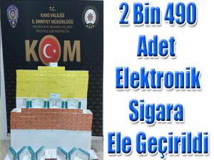 2 BİN 490 ADET ELEKTRONİK SİGARA ELE GEÇİRİLDİ