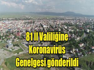 81 İL VALİLİĞİNE KORONAVİRÜS GENELGESİ