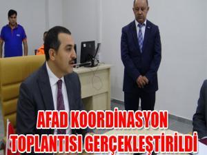 AFAD KOORDİNASYON TOPLANTISI GERÇEKLEŞTİRİLDİ.