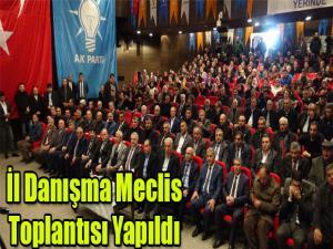 İL DANIŞMA MECLİS TOPLANTISI YAPILDI