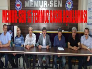 Kars Memur Sen'den 15 Temmuz açıklaması