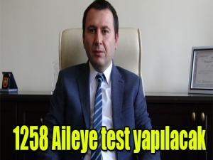 KARS'TA 1258 AİLEYE TEST YAPILACAK