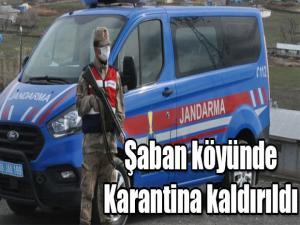 ŞABAN KÖYÜ KARANTİNASI KALDIRILDI
