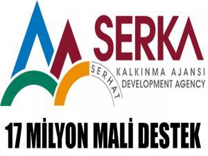 SERKA'DAN 17 MİLYON MALİ DESTEK