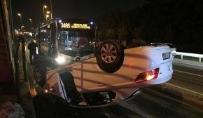 Kadıköy'de otomobil metrobüs yoluna girdi