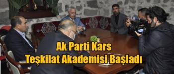 Ak Parti Kars Teşkilat Akademisi Başladı