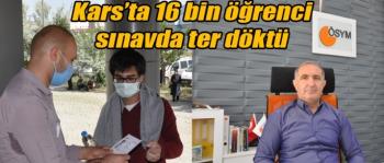 Kars'ta 16 bin öğrenci sınavda ter döktü