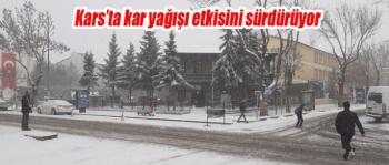 Kars'ta, bahar beklenirken kış yeniden yüzünü gösterdi