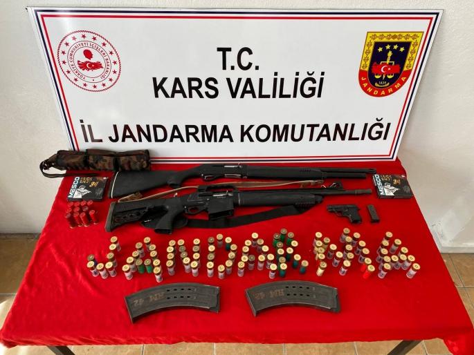 Kağızman'da İşlenen Cinayetin Suç Delili Olan Silahlar Ele Geçirildi