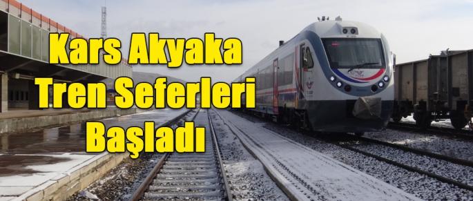 Kars Akyaka Tren Seferleri Başladı