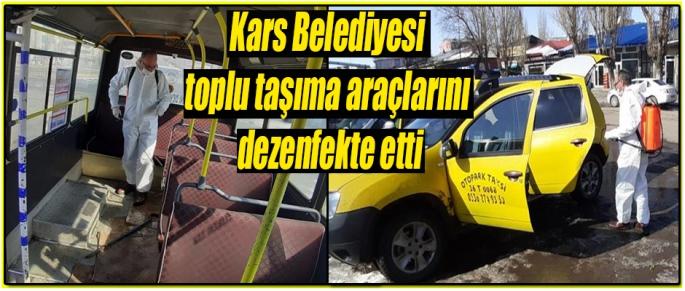 Kars Belediyesi Dezenfekte Çalışması Yaptı