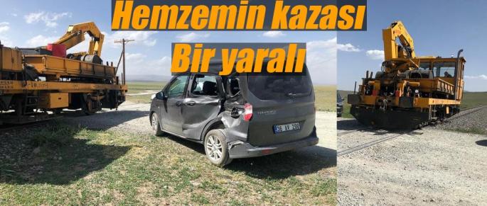 Kars'ta hemzemin kazasında 1 yaralı