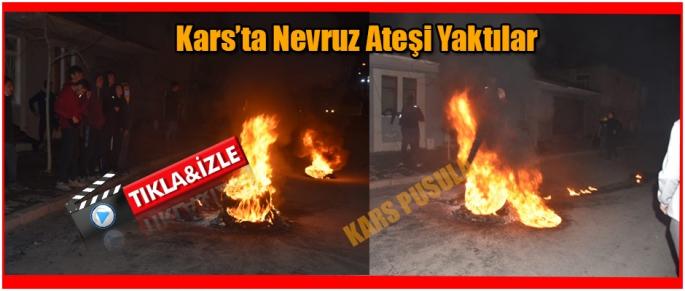 Kars'ta Nevruz Ateşi Yaktılar