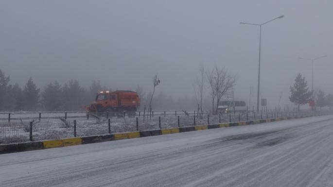Kars'ta yoğun sis hava ve kara ulaşımını etkiledi