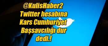 kulishaber2 twitter hesabına Cumhuriyet Savcılığı dur dedi