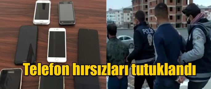 TELEFON HIRSIZLARI TUTUKLANDI