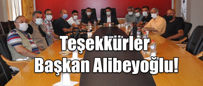 Teşekkürler Başkan Alibeyoğlu!