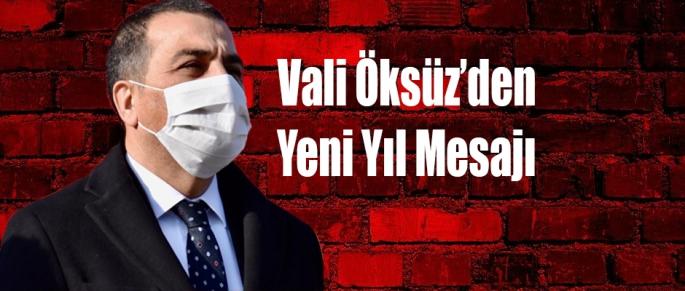 Vali Öksüz'den yeni yıl mesajı