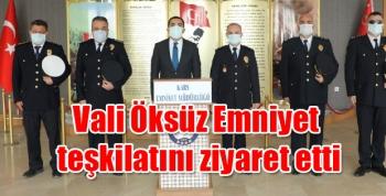 Vali Öksüz Kars Emniyet teşkilatını ziyaret etti