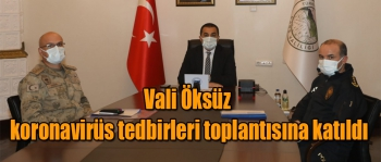 VALİ ÖKSÜZ KORONAVİRÜS TEDBİRLERİ TOPLANTISINA KATILDI