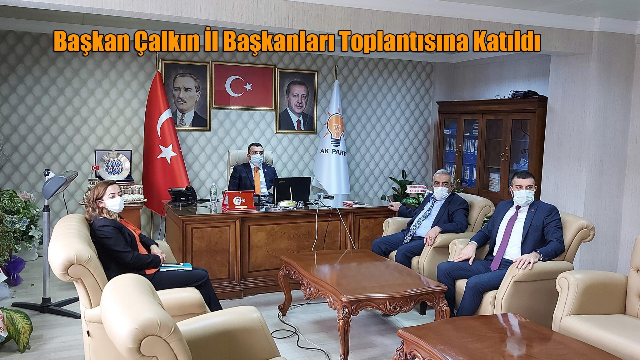 Başkan Çalkın Başkanlar toplantısına katıldı