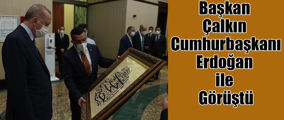 Başkan Çalkın Cumhurbaşkanı Erdoğan ile görüştü