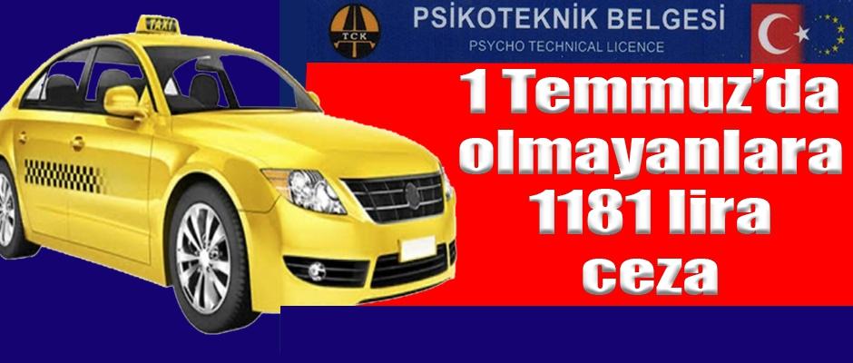 Belgesi olmayan Sürücülere 1181 Lira Ceza Kesilecek