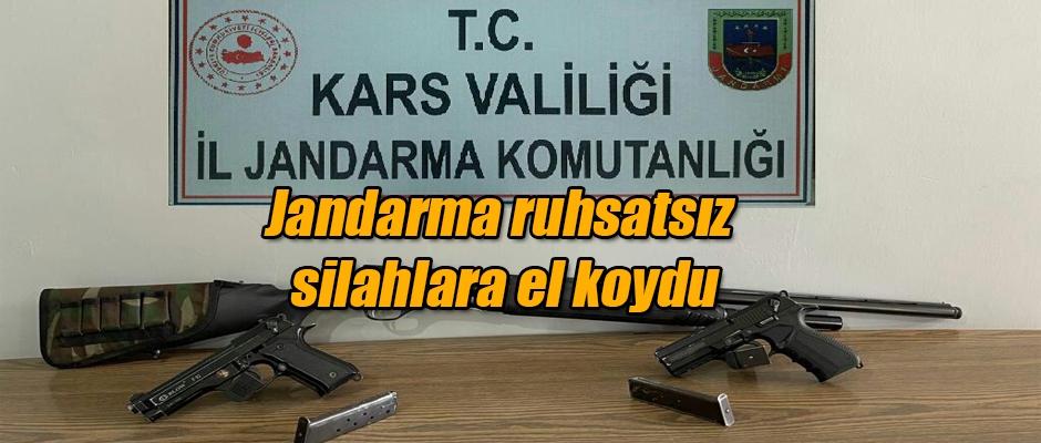 Jandarma ruhsatsız silahlara el koydu