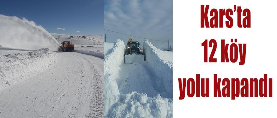 Kars'ta 12 Köy Yolu Kapandı