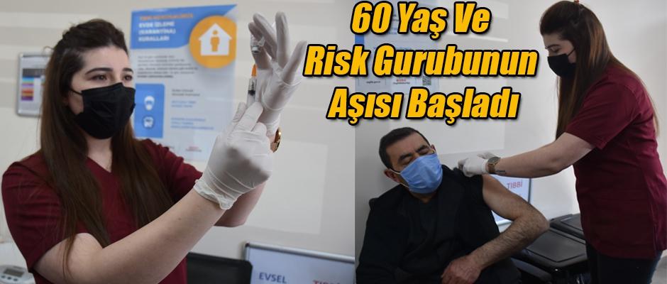 Kars'ta 60 Yaş ve Risk Gurubunun Aşısı Başladı