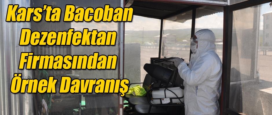 Kars'ta Bacoban dezenfektan firmasından örnek davranış