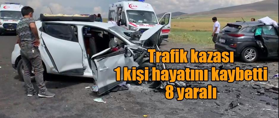 Kars'ta trafik kazası 1 kişi hayatını kaybetti 8 yaralı