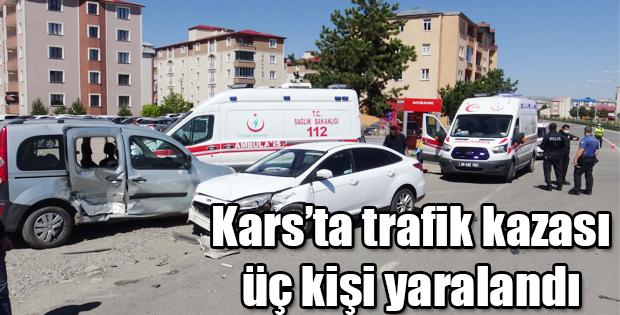 KARS'TA MEYDANA GELEN KAZADA 3 KİŞİ YARALANDI