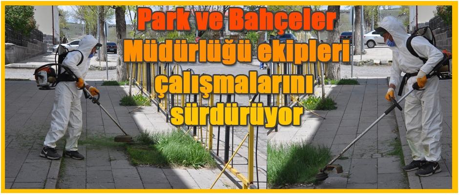 Park ve Bahçeler Müdürlüğü çalışmalarını sürdürüyor